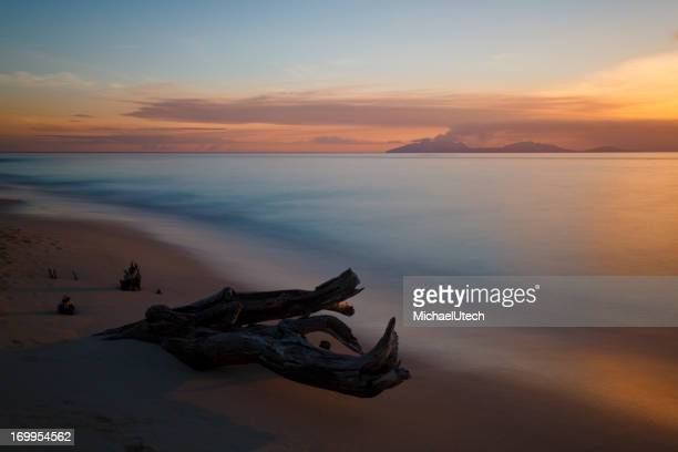 Beautiful Sunset Close To Montserrat