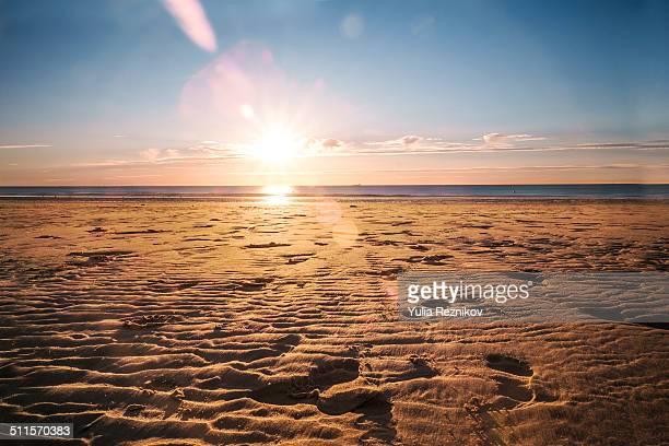 Beautiful sunset in Calais