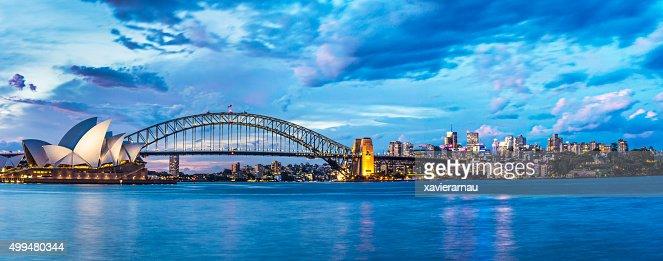 Beautiful sunset in Sydney