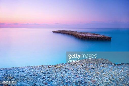 Beautiful sunset over sea : Stock Photo