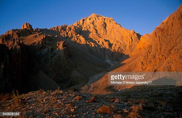 Beautiful Sunset over the Ala Daglar mountains.