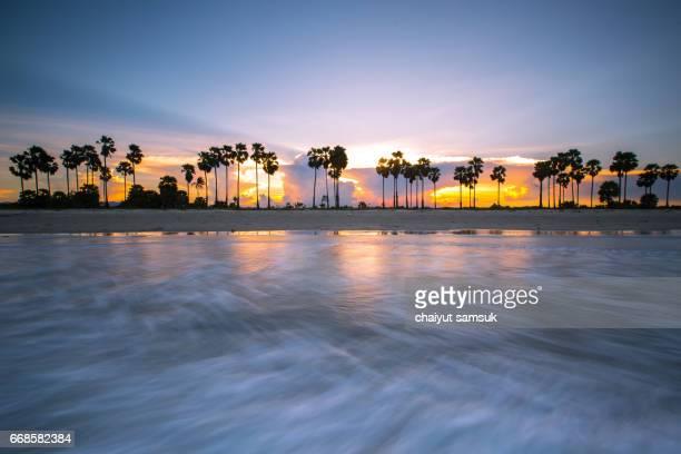 Beautiful sunset seascape in Thailand
