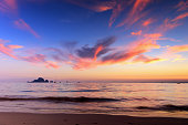 Beautiful Sunset Sky at Ao Nang Beach, Krabi, South of Thailand