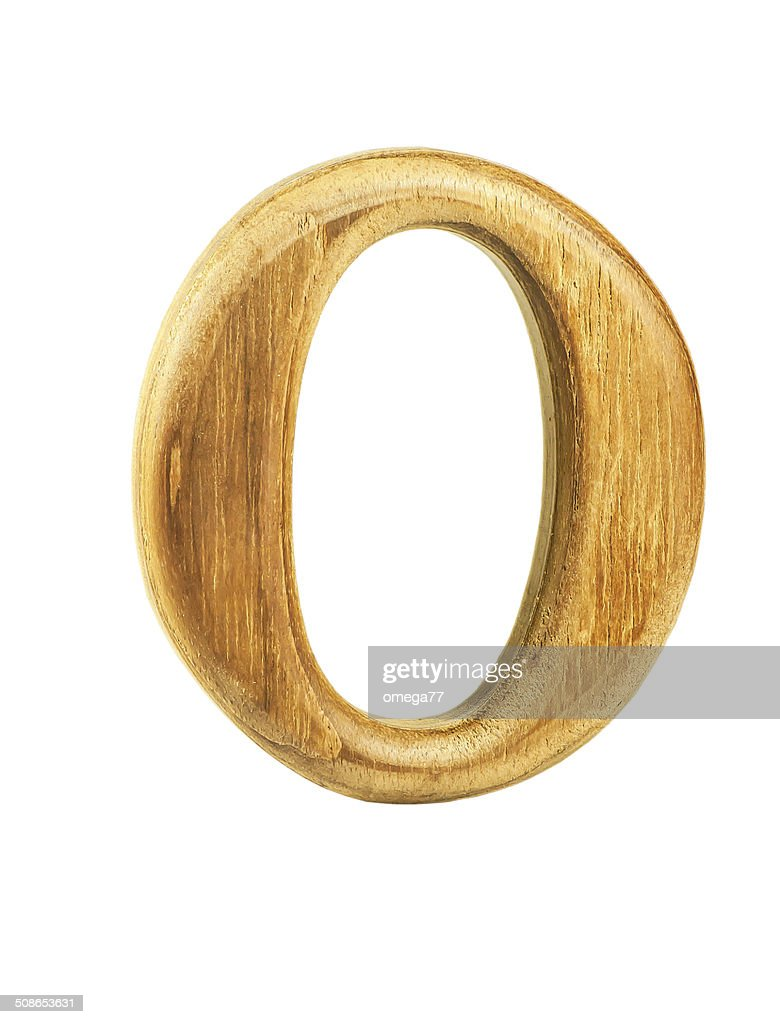 beautiful teak wooden numbers 0 : Stock Photo