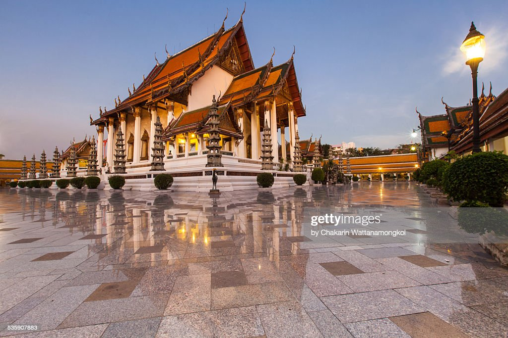 Beautiful Temple in Bangkok (Wat Suthat) : Stock Photo