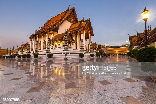 Beautiful Temple in Bangkok (Wat Suthat) : Foto de stock