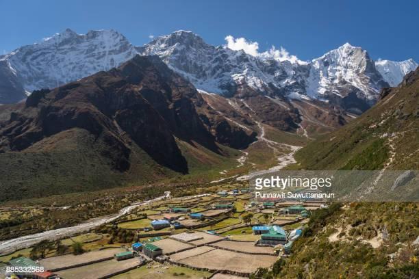 Beautiful Thame village in Everest region, Nepal