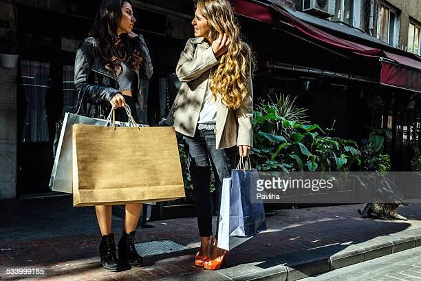 Beautiful Turkish Women Shopping in Bayoglu, Taxim, Istanbul, Turkey