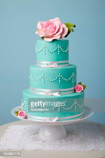 beautiful turquoise cake