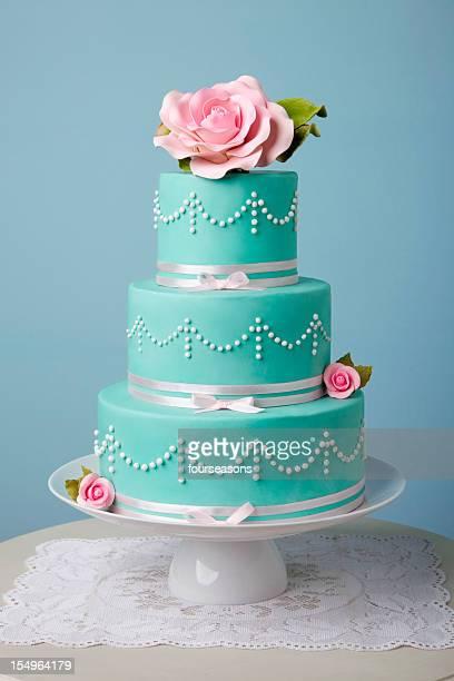 Wunderschönen türkisfarbenen Kuchen