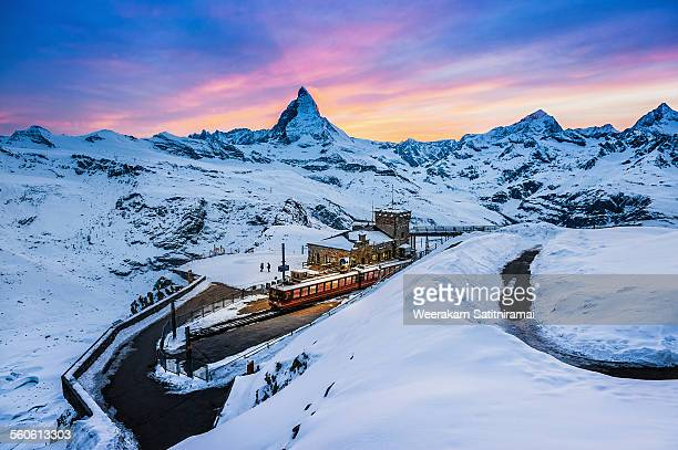Beautiful twilight at Gornergrat, Switzerland