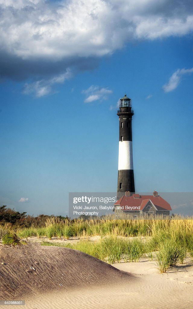 Beautiful vibrant colors at Fire Island Lighthouse