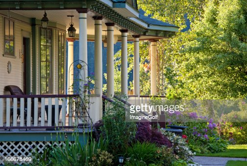 A beautiful Victorian veranda