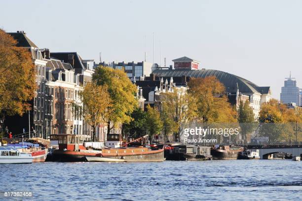 Beautiful view of Amsterda in Netherlands