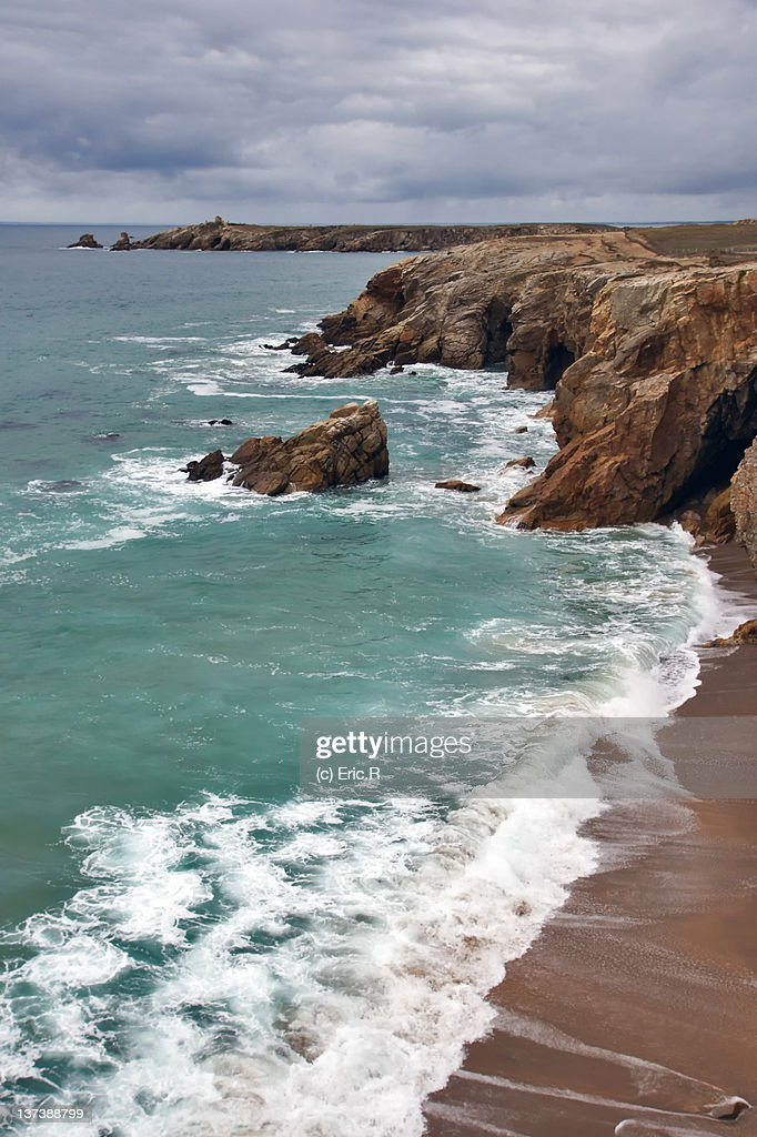 Beautiful view of beach, France : Stock Photo
