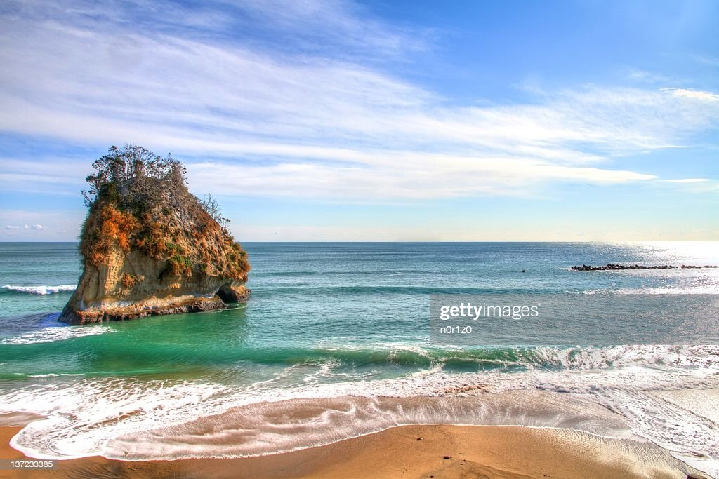 Beautiful view of beach of Ibaraki, Japan : Stock Photo