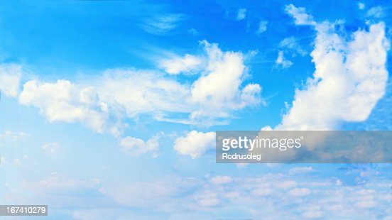 Beautiful view of blue sky and clouds. : Stockfoto