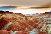 China,Danxia landform is formed from red sandstones and conglomerates of largely Cretaceous age.