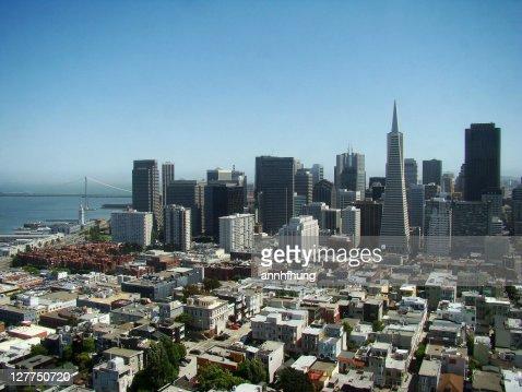 Beautiful view of downtown San Francisco : Stock Photo