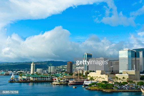 Beautiful view of Honolulu, Hawaii, United States : Stock Photo