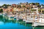 Harbor of Soller on Mallorca, Balearic Islands.