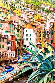 Beautiful view of Riomaggiore