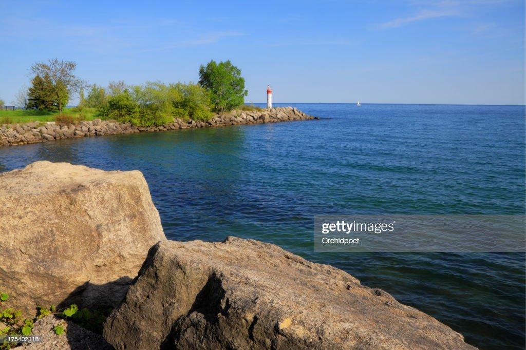 splendida vista della rive del lago ontario