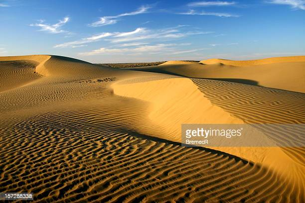 Beautiful view of the sky and sand dunes