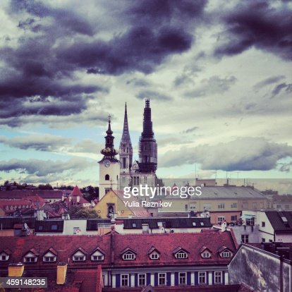 Beautiful view of Zagreb Cathedral
