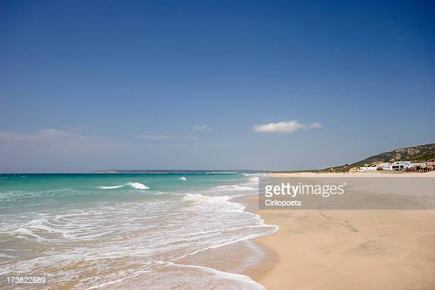 Beautiful view of Zahara beach at Cadiz Province