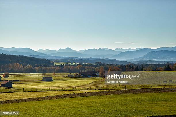 Beautiful view on Bavarian Alps