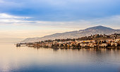 Beautiful view on Geneva Lake can be used as background