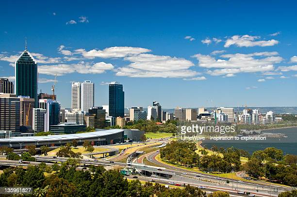 Beautiful view over city of Perth
