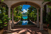 beautiful view from a villa on the beach in St John, United States Virgin Islands
