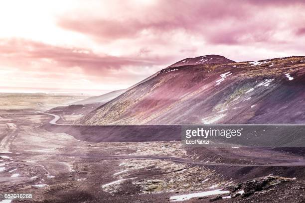 Beautiful volcanic landscape in Iceland