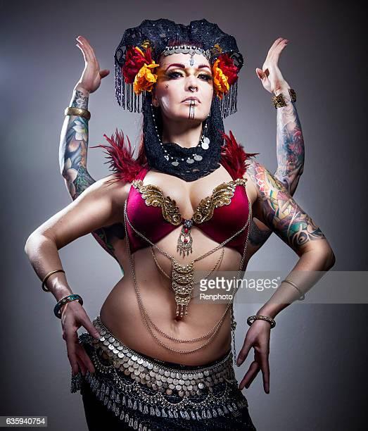Beautiful Warrior Goddess Fashion Model