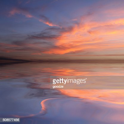 beautiful water reflection : Stock Photo