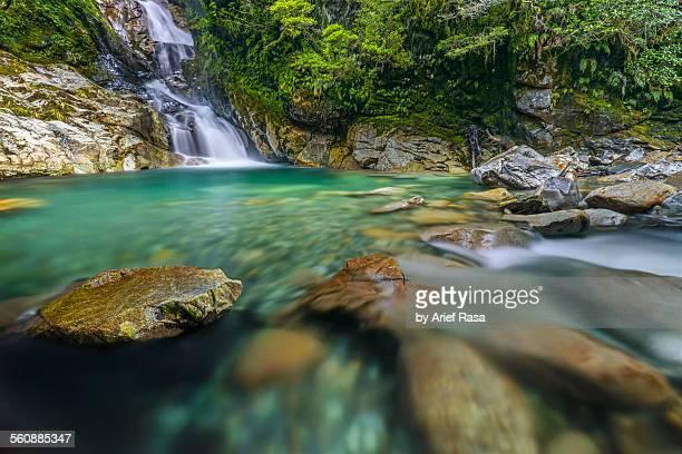 Beautiful Waterfall And Turquoise Pool