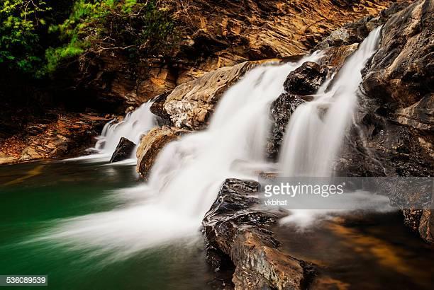 Beautiful Waterfall in Western Ghats Karnataka India