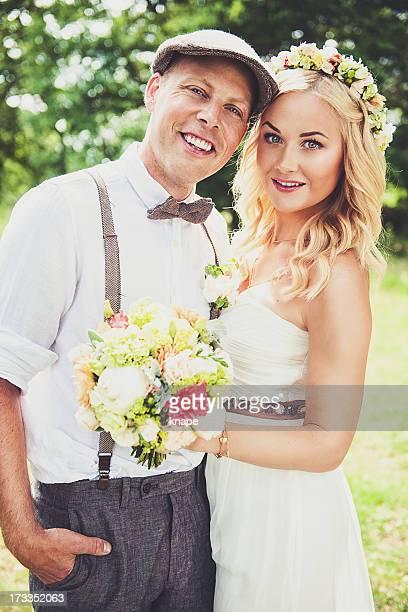 Beau couple de mariés