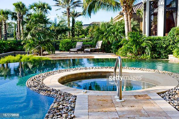 Beautiful Whirlpool and Swimming Pool at an Estate Home