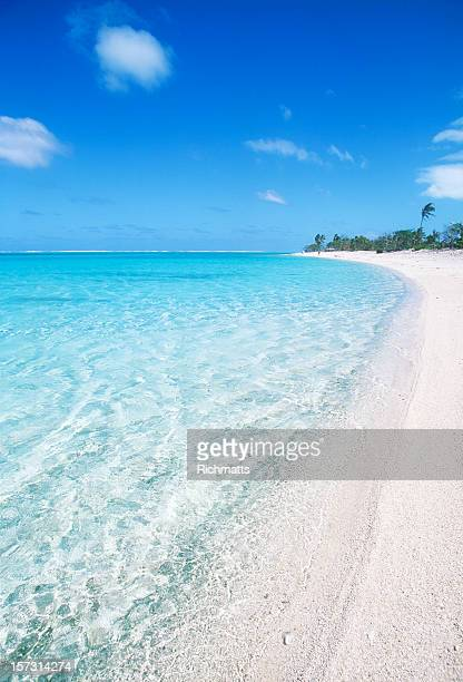 A beautiful white sand beach in Polynesia