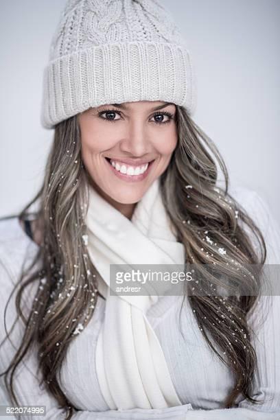 Belle femme d'hiver