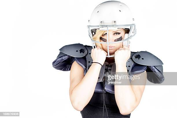 Beautiful Woman American Football Player