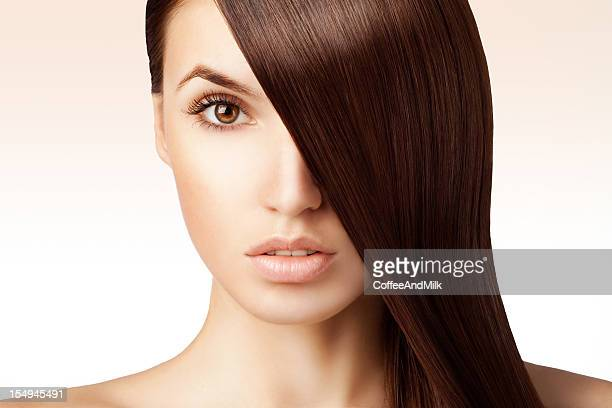 Beautiful woman and her luxury hairs