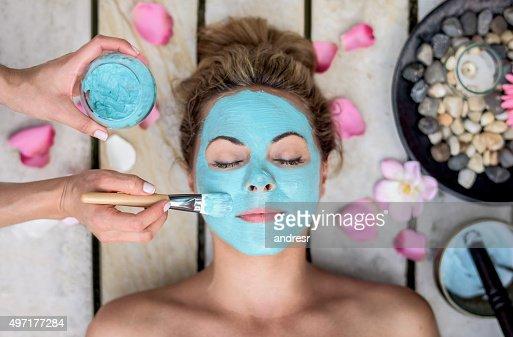 Beautiful woman at the spa