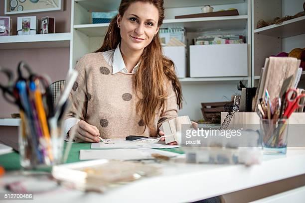 Beautiful woman card maker
