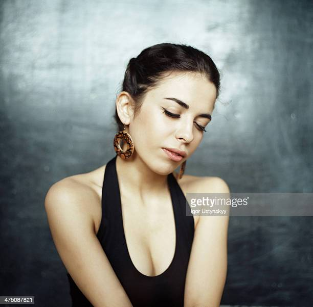 Beautiful woman dreaming