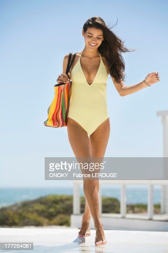 Beautiful Women In Bathing Suits Stock Photos and Pictures ...