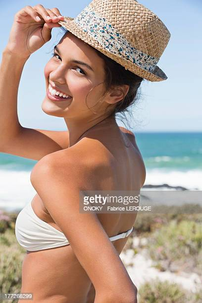 Beautiful woman enjoying on the beach